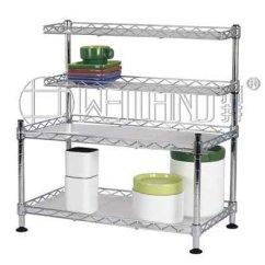 Metal Kitchen Shelf Curtain Sets Hot Sale Chrome Cabinet New Id 7278951 Image