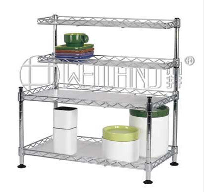 metal kitchen shelves canisters sets hot sale chrome cabinet shelf new id 7278951 image