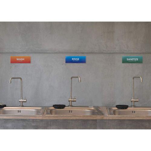 12 pack wash rinse sanitize labels