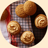 Pumpkin Cookies with Pumpkin Pie Spice Frosting
