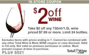 wine coupon- $2 off