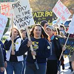 Washington support professionals march for fair treatment