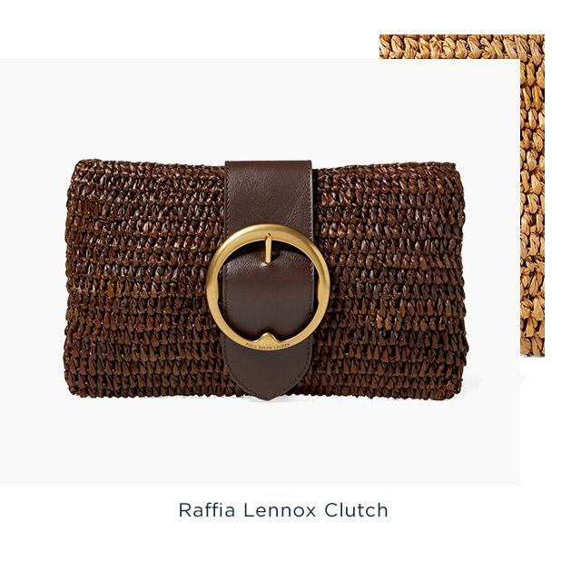 Raffia Lennox Clutch
