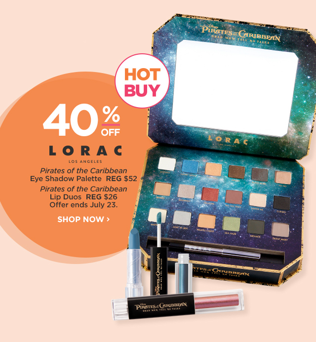LORAC | HOT BUY Pirates of the Caribbean Eye Shadow Palette 40 Percent Off, Pirates of the Caribbean Lip Duos 40 Percent Off, offer ends July 23