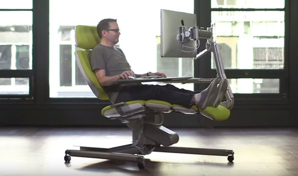 lazyboy office chair halloween electric altwork's lie-down computer workstation is unique chair-be