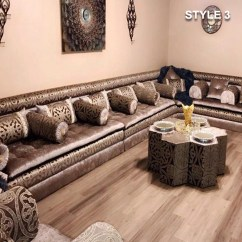 Big Pillows For Sofas Mid Century Leather Sofa Toronto Style 3 Fabric Brown Color Arabic Majlis Floor ...