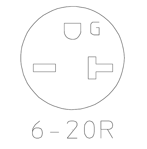 NEMA 6-20R
