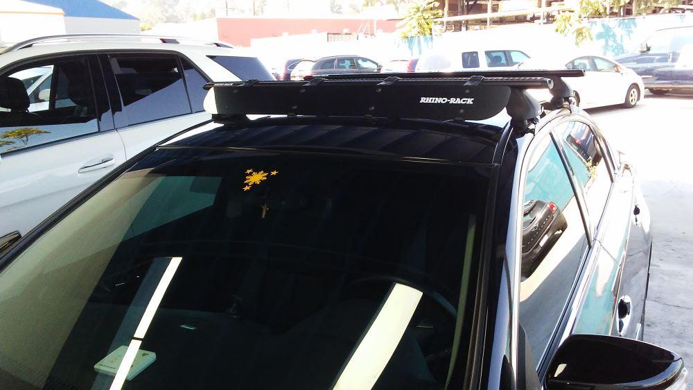 black roof rack wind faring deflector