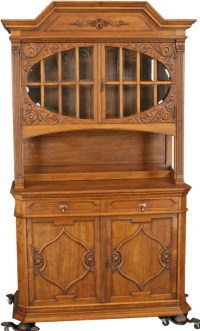 ANTIQUE GERMAN CARVED RENAISSANCE BUFFET CHINA CABINET | eBay