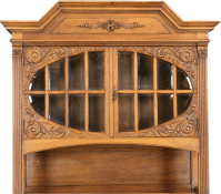 ANTIQUE OAK GERMAN CARVED RENAISSANCE BUFFET CHINA CABINET ...