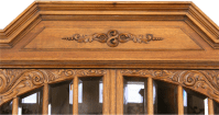 ANTIQUE GERMAN CARVED RENAISSANCE BUFFET CHINA CABINET