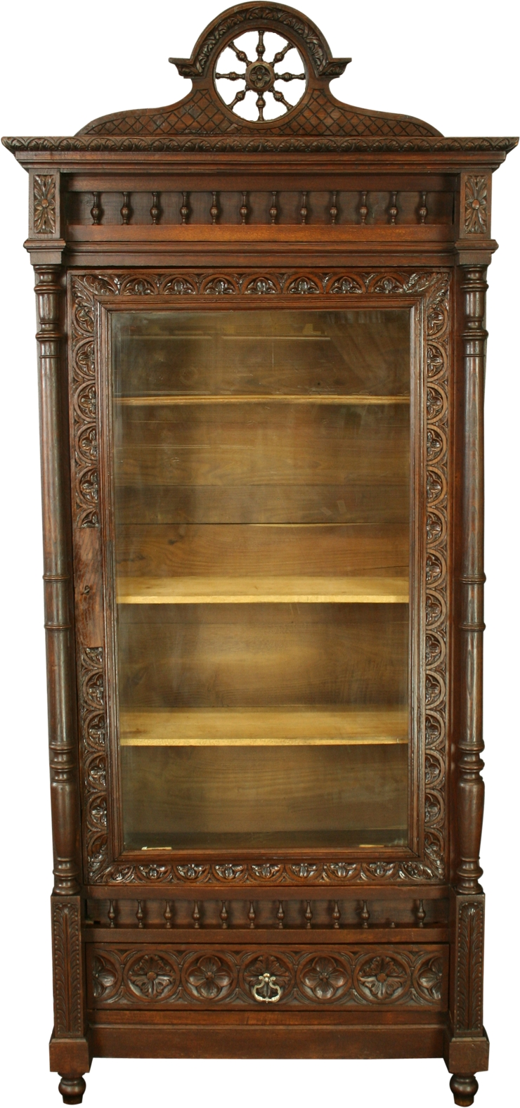Antique French Brittany Armoire Bookcase China Cabinet Ebay