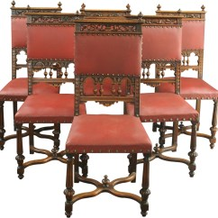 Dining Chair Styles Antique Best Lightweight Hunting Set 6 French Chairs Renaissance Style