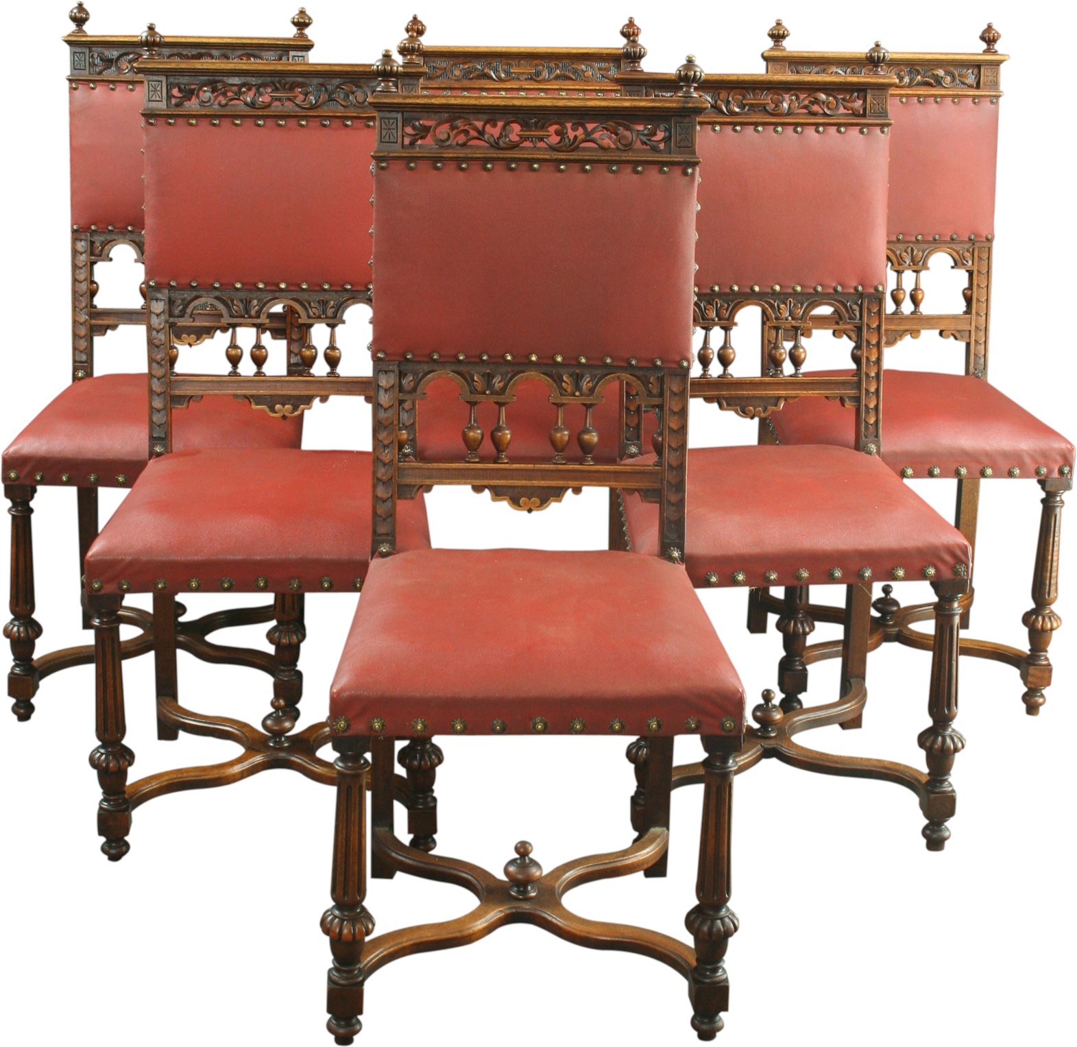 Antique French Chairs Set 6 Antique French Dining Chairs Renaissance Style