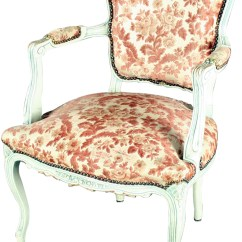 Floral Upholstered Chair Cherry Wood Dining Room Chairs Vintage 1930 French Country Shabby Elegance