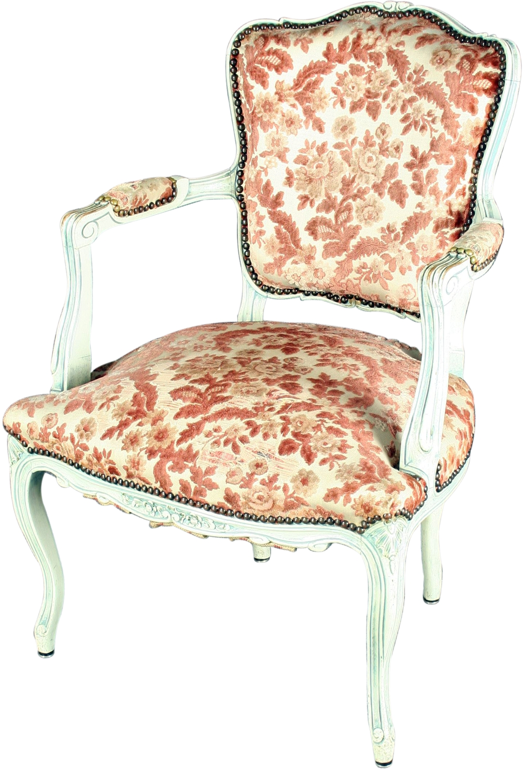 floral upholstered chair folding covers target vintage 1930 french country shabby elegance