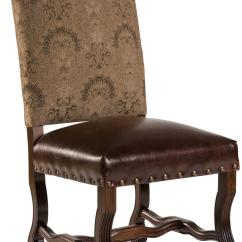 Beige Leather Dining Chairs Chair Throw Covers New Pair Brown Wood Fabric
