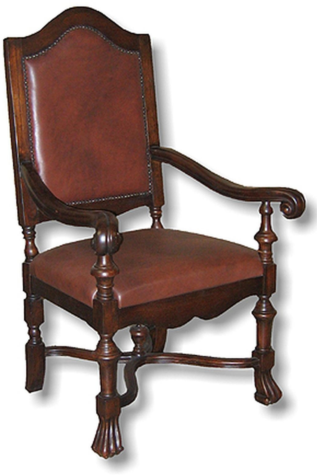 french country dining chairs with arms control room operator new high back chair leather nail