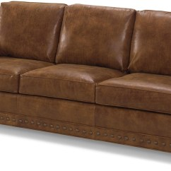 Brown Leather Studded Sofa Reclinable Costa Rica New Antique Style Top Grain