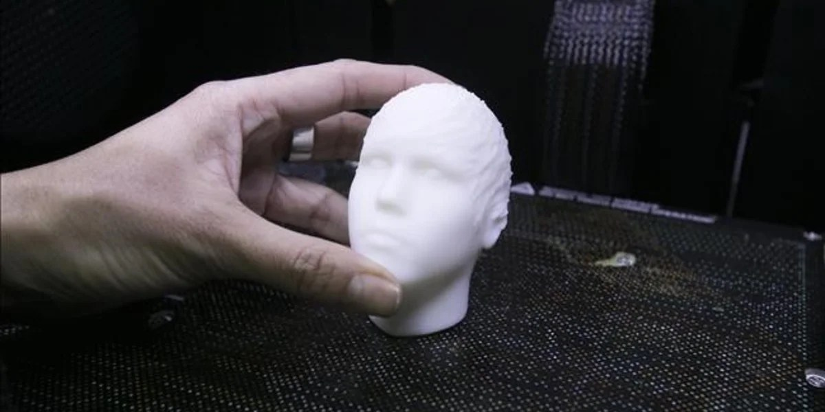 Justin Bieber's head printed in 3D