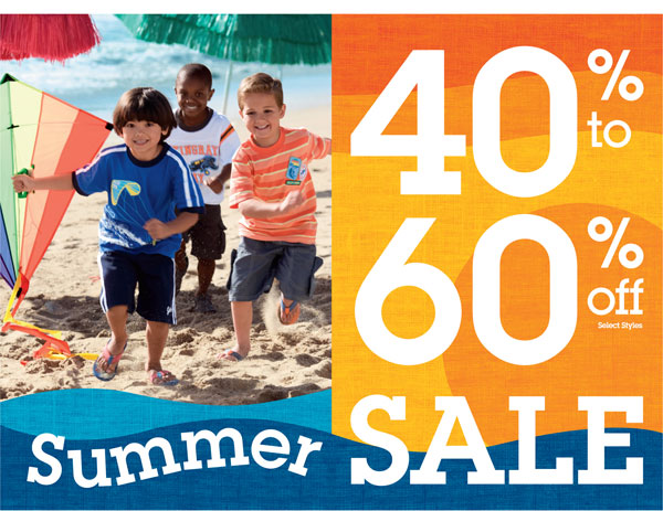 40-60% off Summer Sale at OshKosh B'gosh