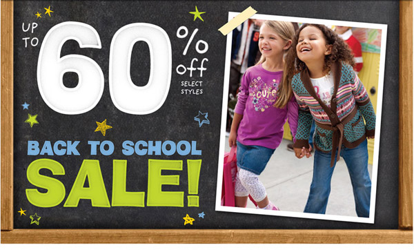 Up to 60% Off Back to School Sale going on now!