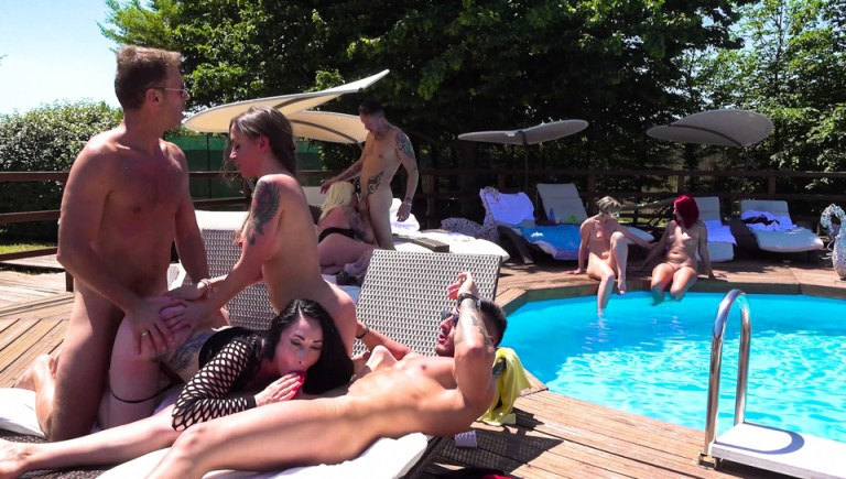 Orgy by the Pool
