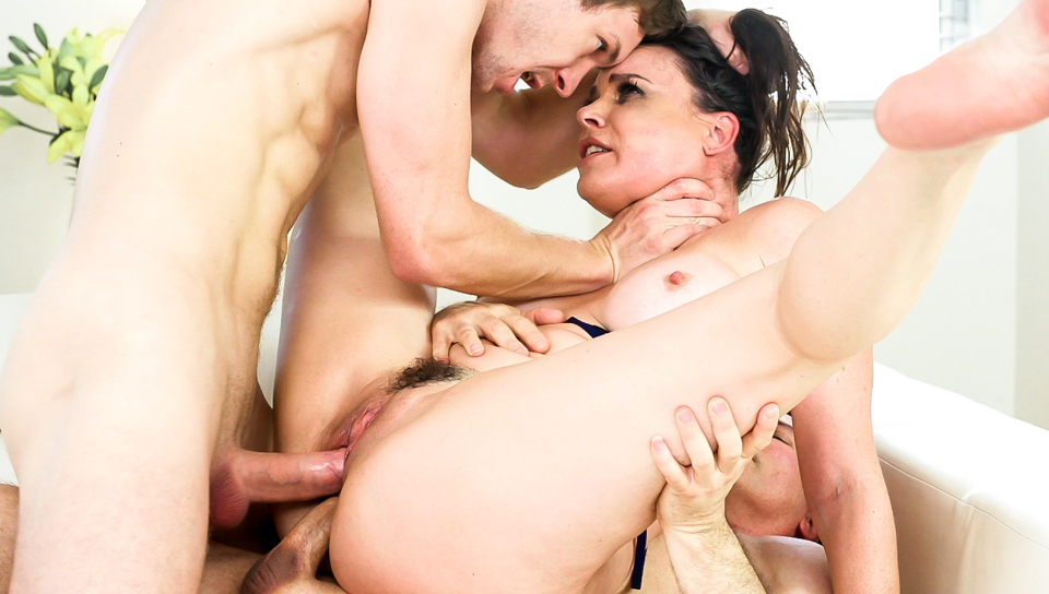 Squirting MILF Dana's DP Threesome