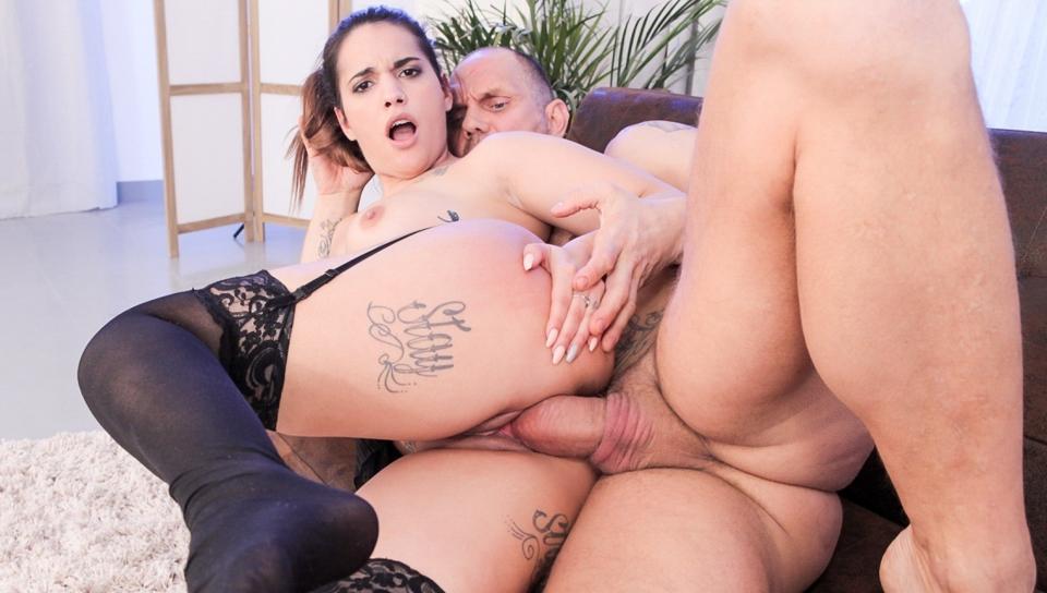 Squirting Latina Kiara's Big Cock Fuck