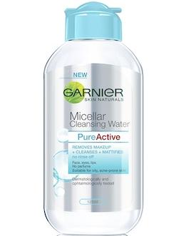 Manfaat Garnier Micellar Water Kuning : manfaat, garnier, micellar, water, kuning, Garnier, Micellar, Cleansing, Water, All-in-1, Makeup, Remover, Cleanser, Oily,, Acne-Prone, Review, Female, Daily