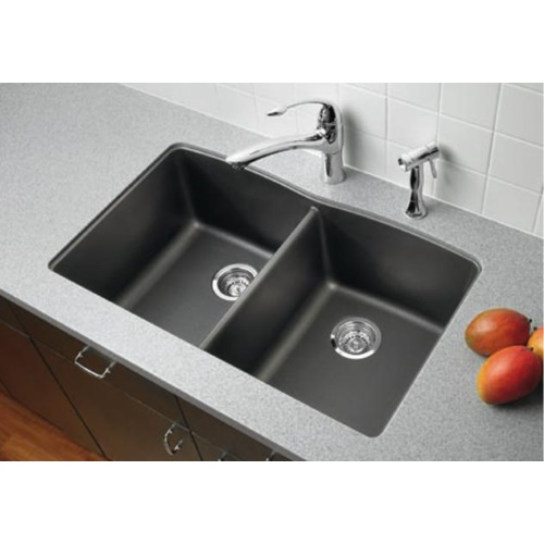 buy undermount kitchen sink cabinets in kansas city b440184 diamond white color double bowl tap to zoom