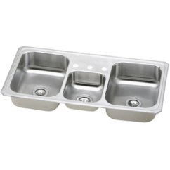 Triple Kitchen Sink Roll About Cart Ecmr43223 Celebrity Bowl Stainless Steel At Fergusonshowrooms Com