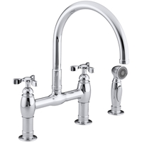 3 hole kitchen faucet table sizes faucets at fergusonshowrooms com two handle