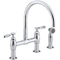 3 hole kitchen faucet dishes set faucets at fergusonshowrooms com two handle