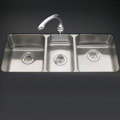 Triple Kitchen Sink Cabinet Handle K3168 Na Undertone Bowl Stainless Steel