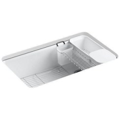 Kitchen Sink White Old Tables K5871 5ua3 0 Riverby Color Undermount Single Bowl