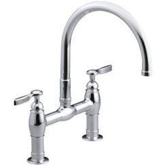 Two Handle Kitchen Faucet Cabinets From Home Depot K6130 4 Cp Parq Polished Chrome At