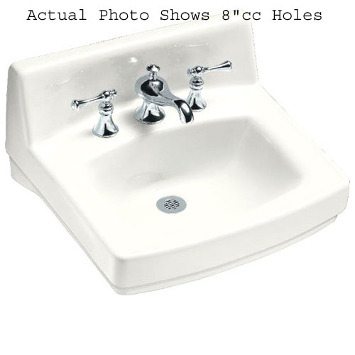 k2031-0 greenwich wall hung bathroom sink - white at