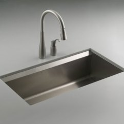 Stainless Steel Undermount Kitchen Sinks Pendant Light K3673 Na 8 Degree Single Bowl Sink At Fergusonshowrooms Com
