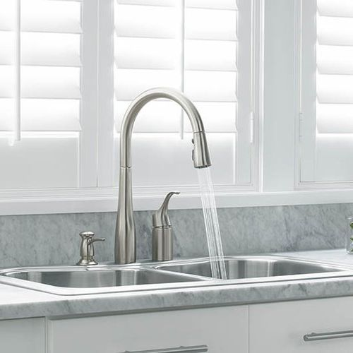 kohler kitchen faucet tin backsplash k647 vs simplice pull out spray vibrant stainless locations finder