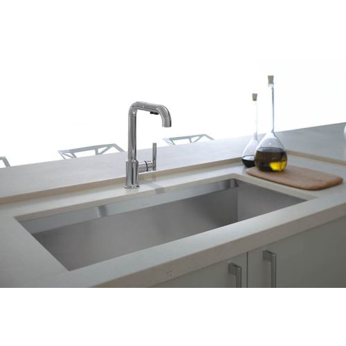 kohler purist kitchen faucet island pendant k7505 cp pull out spray polished chrome at tap to zoom