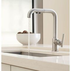 Kohler Purist Kitchen Faucet Sliding Shelves K7505 Cp Pull Out Spray Polished Chrome At Tap To Zoom
