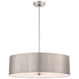 Kp5745084 Grid Drum Pendant Light Brushed Nickel