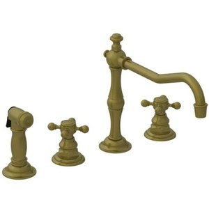 antique bronze kitchen faucet remodeling chicago n943 06 chesterfield two handle brass at