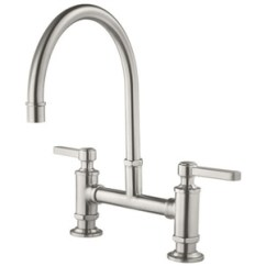 Two Handle Kitchen Faucet Stoves Gas Pgt31tds Port Haven Stainless Steel At