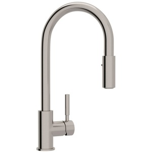 kitchen faucets stainless steel small island with seating rr7520ss lux pull out spray faucet at