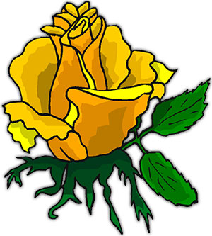 rose yellow single animated clipart roses flowers