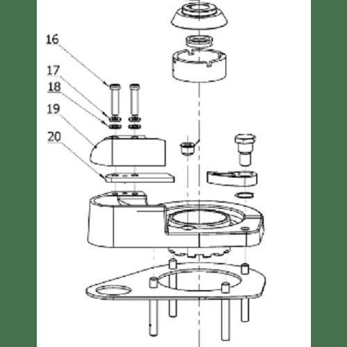 Maxwell P101600 Chain Pipe Cover & Stripper Arm Kit
