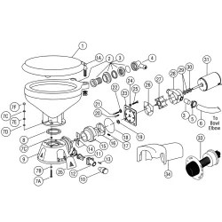 Jabsco 37010 Parts & Electric Toilet Service Kit