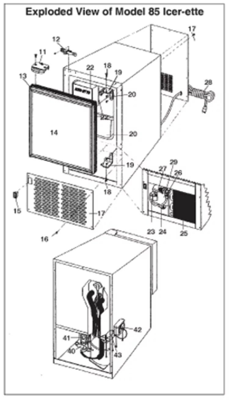 ice maker diagram vdo viewline tacho wiring icer ette makers raritan fisheries supply